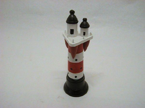 Leuchtturm H 20  *6,5 ROT-WEISS 20x6,5cm