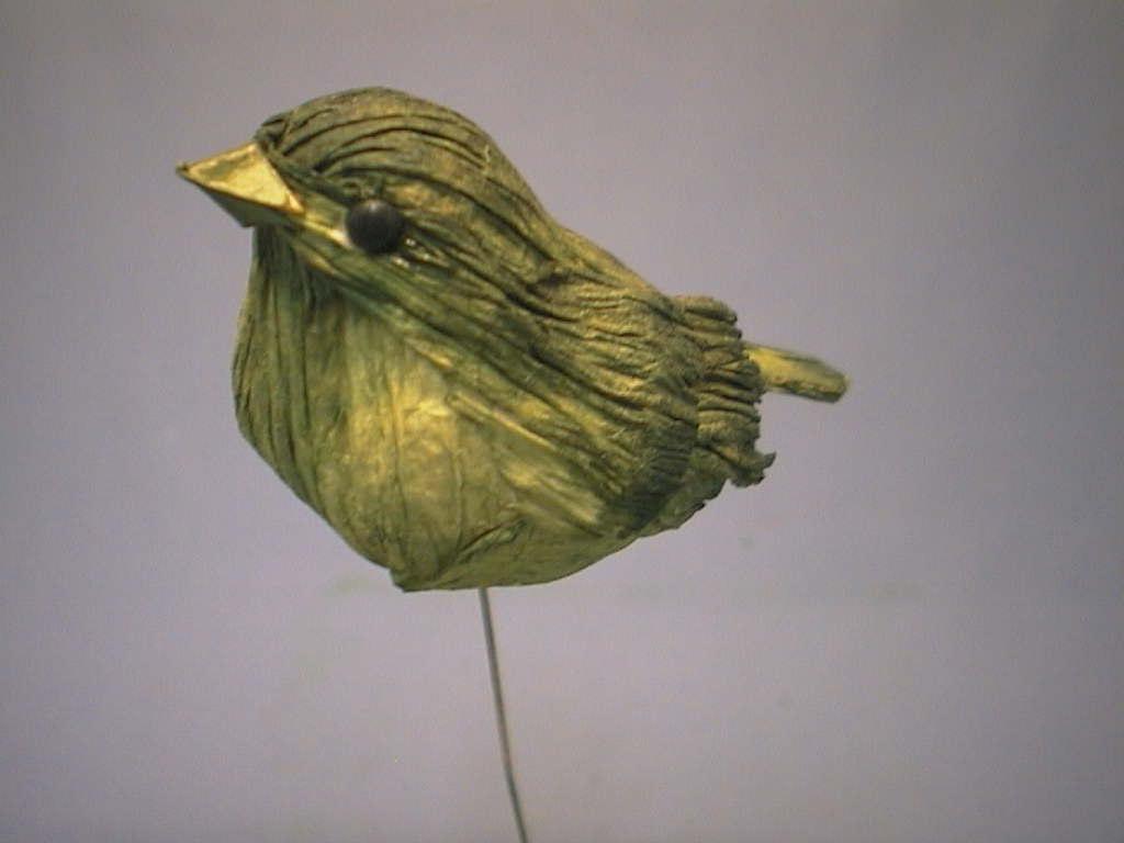 Vogel am Draht 3Mod.9cm v.F. GRÜN 12St.