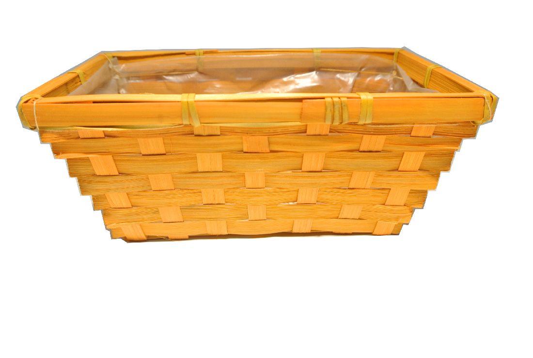 Bambuskorb rechteckig ORANGE 20x12x9cm
