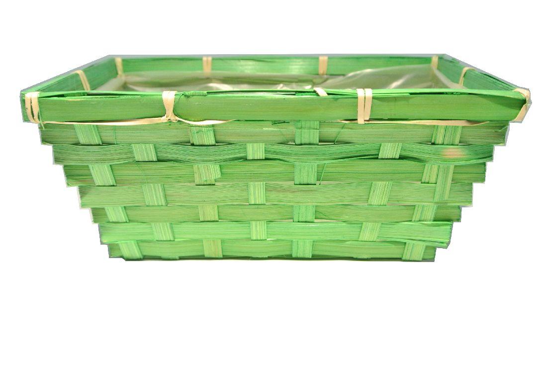 Bambuskorb rechteckig GRUEN 20x12x9cm