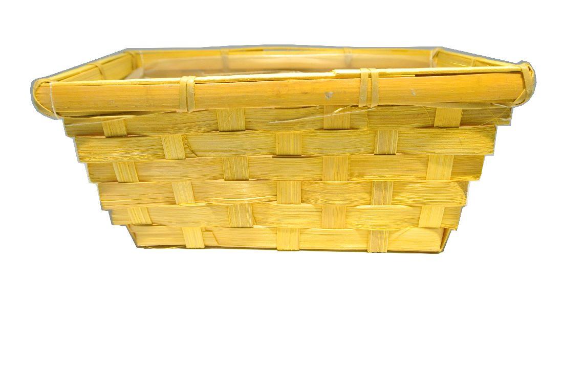 Bambuskorb rechteckig GELB 25x12x9cm