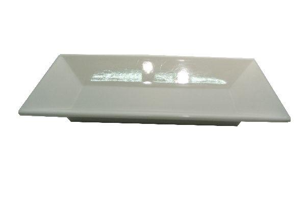 Plastikschale rechteckig WEISS 19x9,5cm