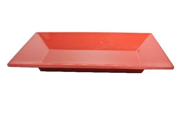Plastikschale rechteckig ROT 19x9,5cm