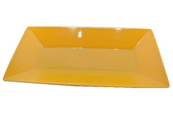 Plastikschale rechteckig GELB 26x13cm