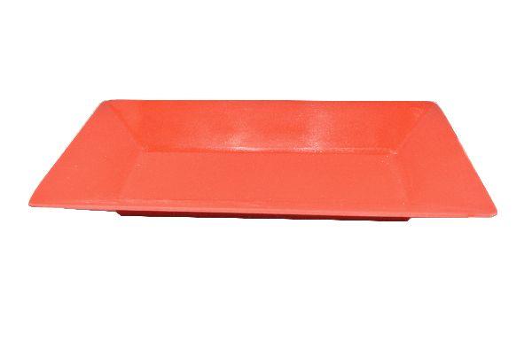 Plastikschale rechteckig ROT 26x13cm
