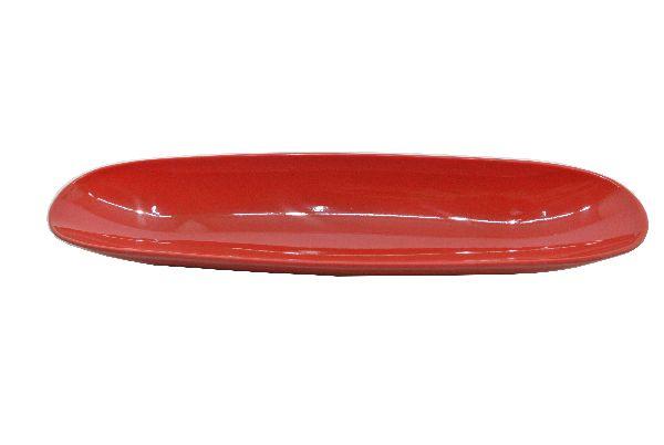 Plastikschale nierenförmig ROT 34,5x8,5cm