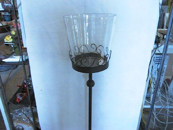 Windlichthalter Metallfuss ohne Glas 22,5x22,5x96,5 cm