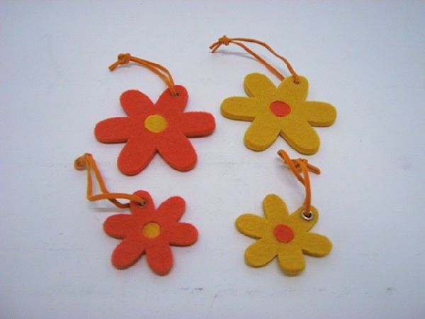 Blüte zum Hängen GELB-ORANGE 12St. 5cm/8St. 8cm