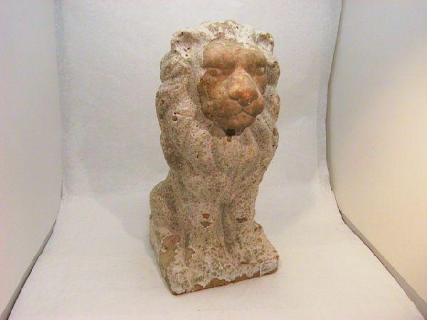 Löwe weiss-antik 50 cm