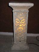 Säule eckig beleuchtet CREME 39 x 39 cm Höhe 100 cm