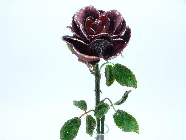 Rose m.Silberglitter AMETHYST H54*8cm