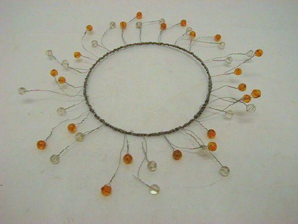 Kranz mit Perlen zum formen ORANGE-APRIC 13/26cm