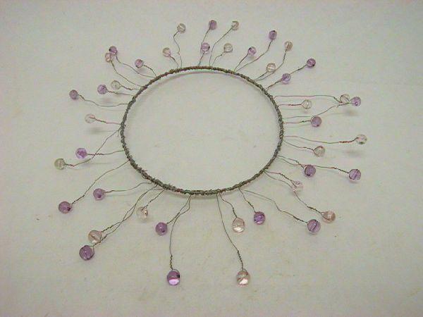 Kranz mit Perlen zum formen 2-TON-LILA 13/26cm