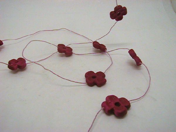 Blumengirlande x11 PINK 270cm