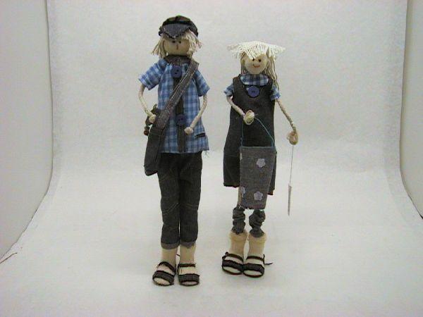 Junge+Maedchen stehend BLAU 36cm