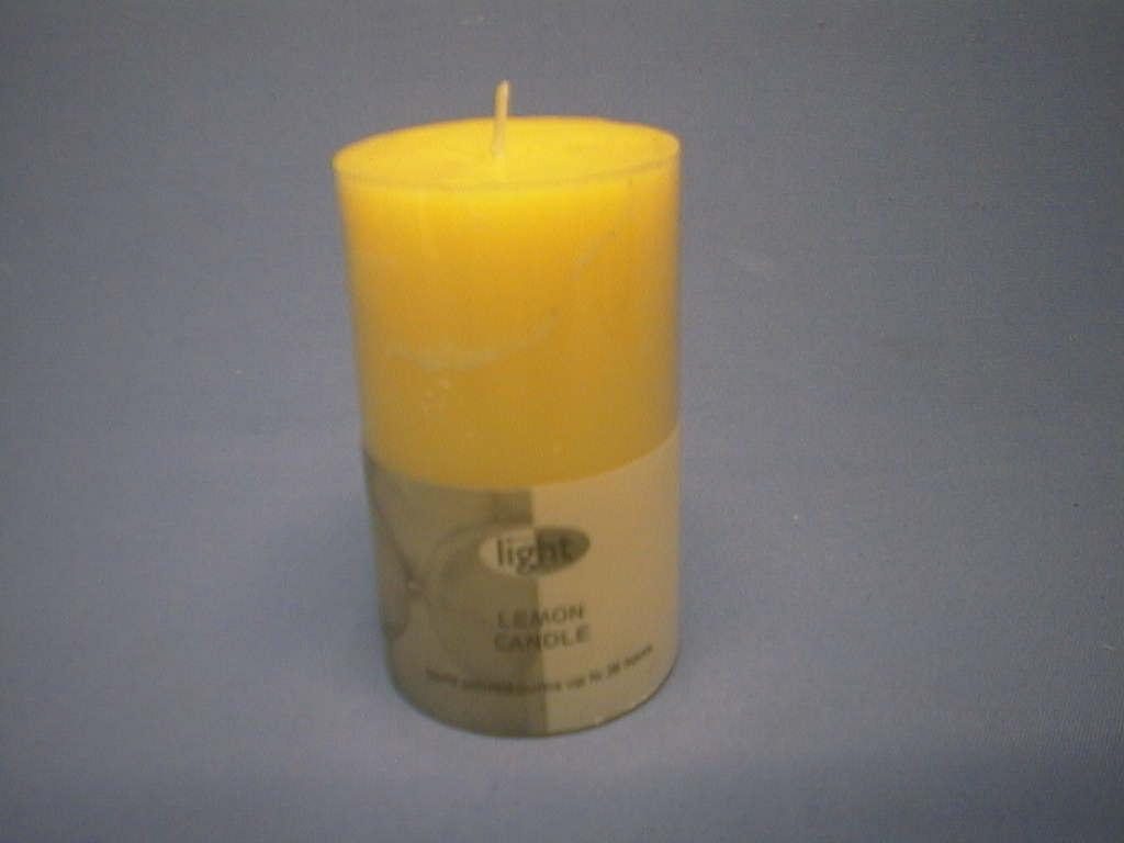 Kerze Zitronenduft 140/70mm