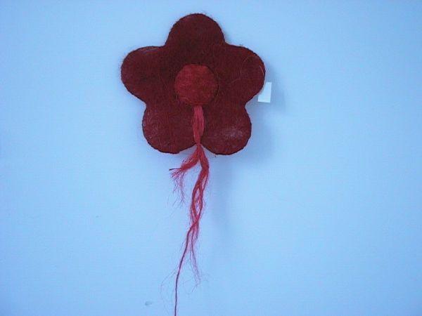 Sisal-Blüte gefüllt rot/hellrot 45cm
