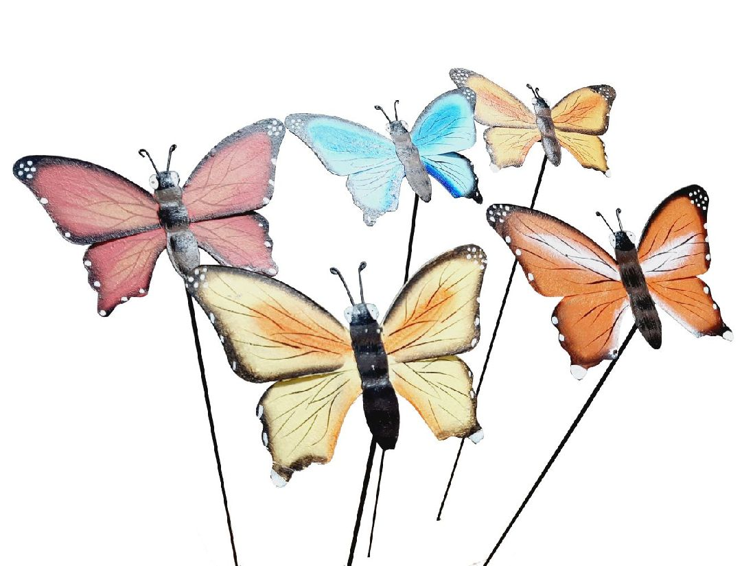 Schmetterling a.St. FARB. SORTI. 19cm/90cm