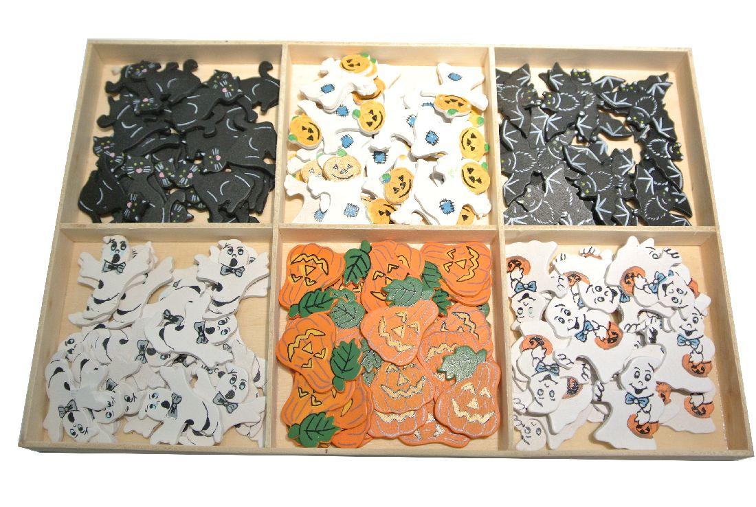 Halloweensortiment zum Streuen BUNT 3cm  144 Stück