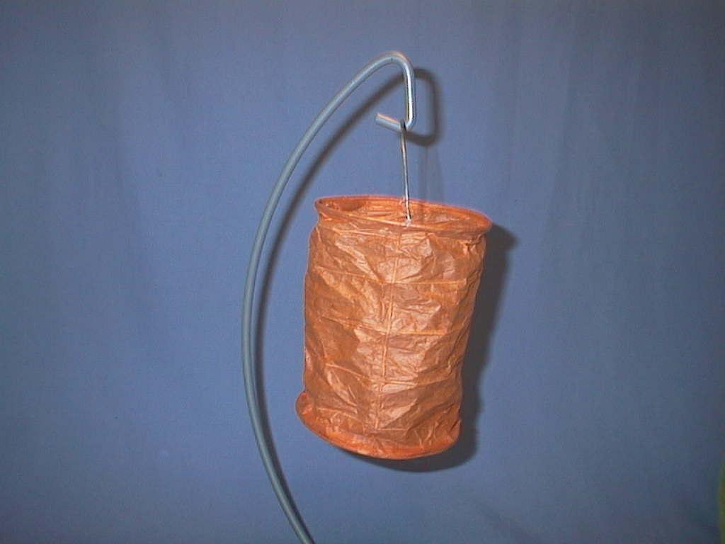 Lampion rund lang ORANGE 20x13cm