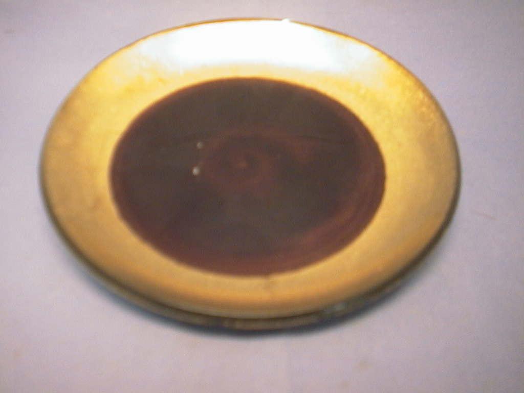 Teller Glas/Keramik BRAUN        20 cm