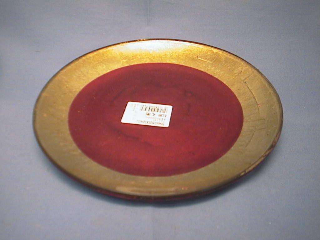 Teller Glas/Keramik ROT          23 cm