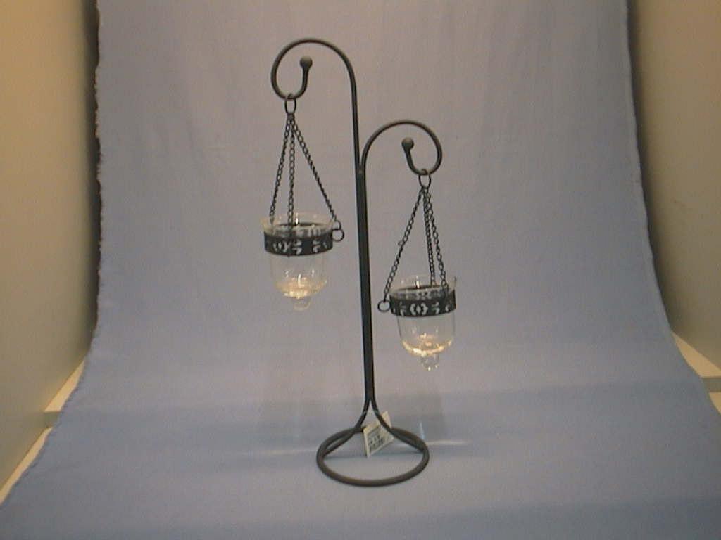 Kerzenhalter m.Glas KLAR x2/ 40cm