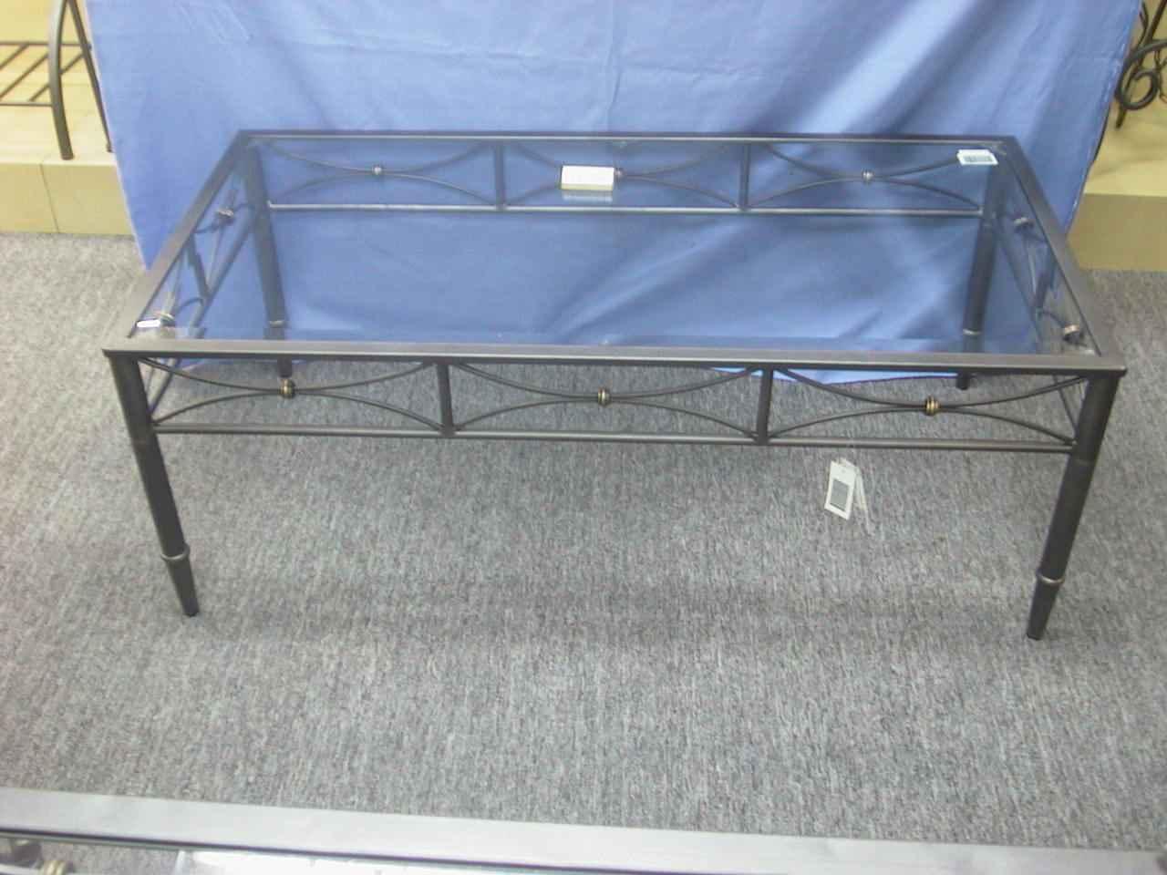 Tisch, Glas, rechteck, niedrig ANTHRAZIT 115x60x64cm