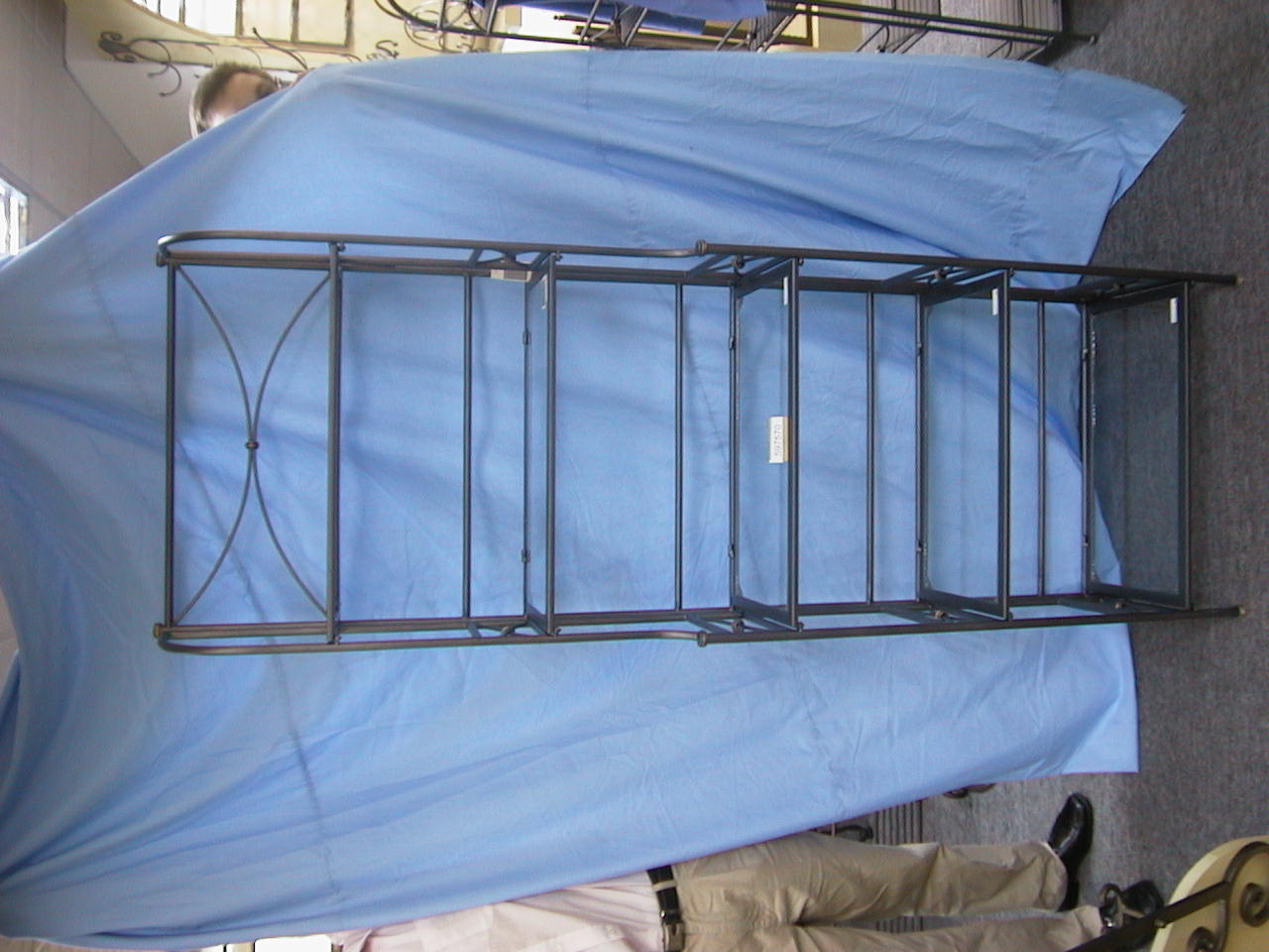 Regal, Glas,x5 ANTHRAZIT 65x180cm