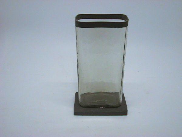 Vase a.Fuss KLAR 13x7x24cm