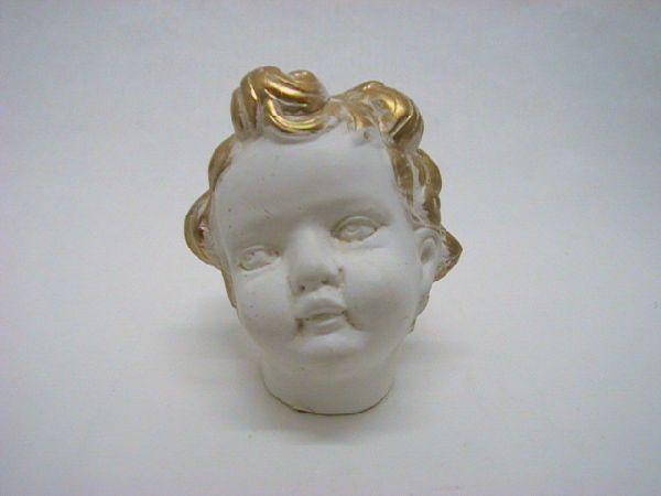 Engelkopf CREME-GOLD 9cm