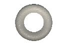 Styroporhalbringe Styropor Ø 25x5cm Ring flach