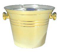 Sektkühler eloxiert GOLD GLÄNZEND Øoben8,5cm H6,5cm Øunten5,5cm