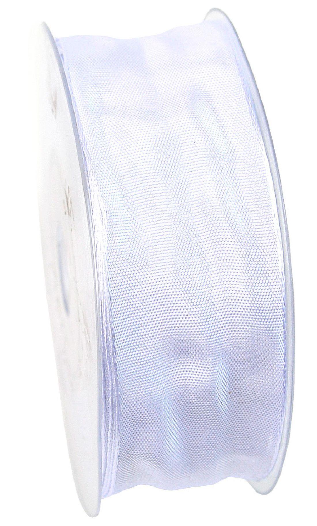 Drahtkantenband WEISS 01 40mm 25m