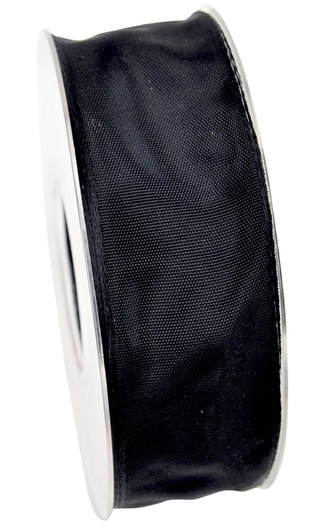 Drahtkantenband SCHWARZ 90 40mm 25m