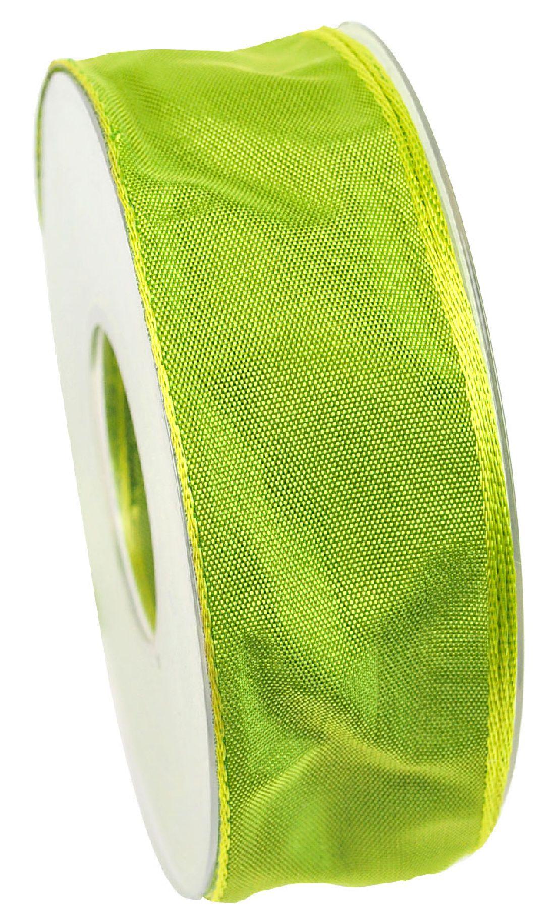 Drahtkantenband hellgrün 551 40mm 25m