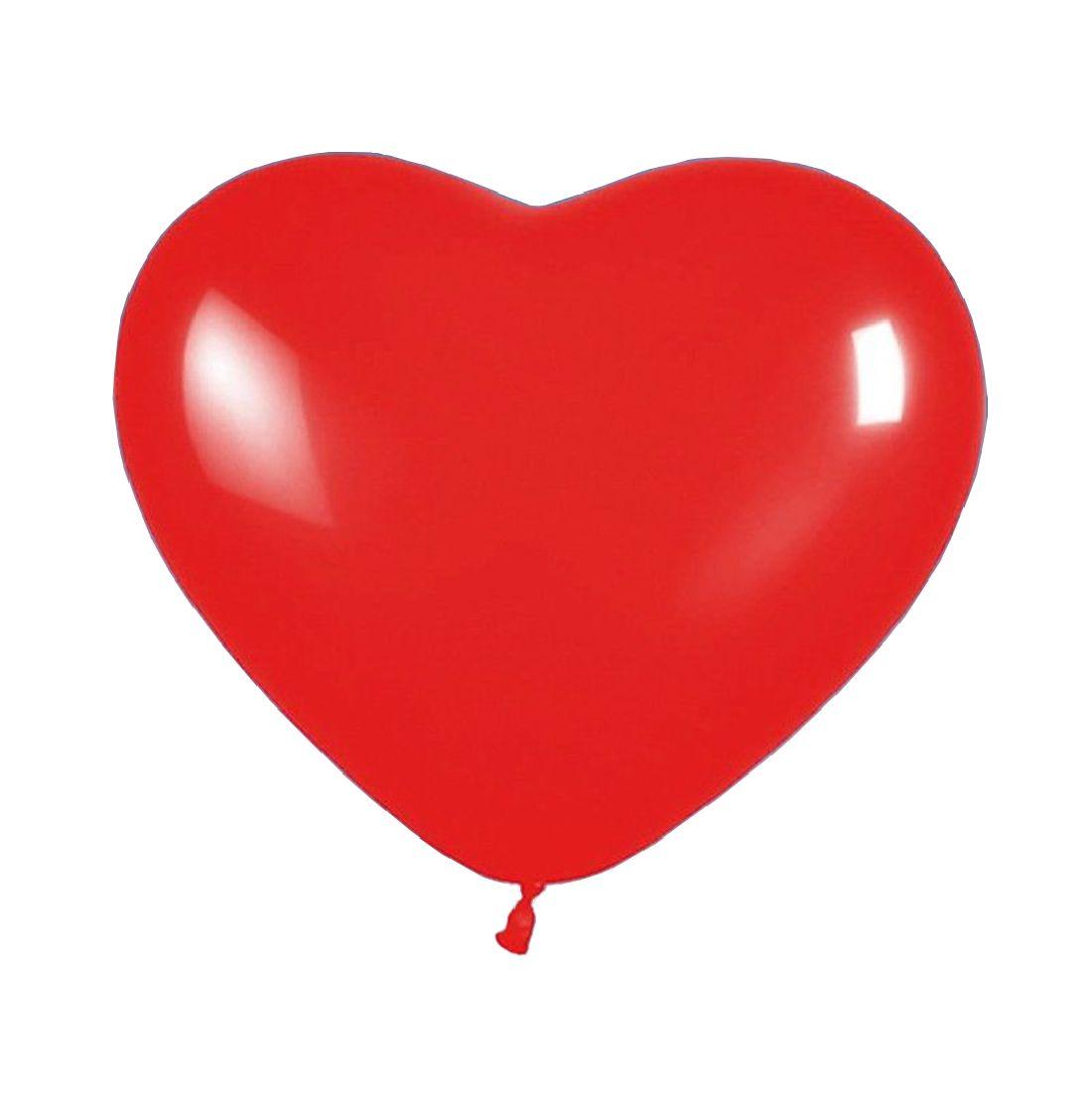 Luftballon ROT Herzform, Herzluftballon