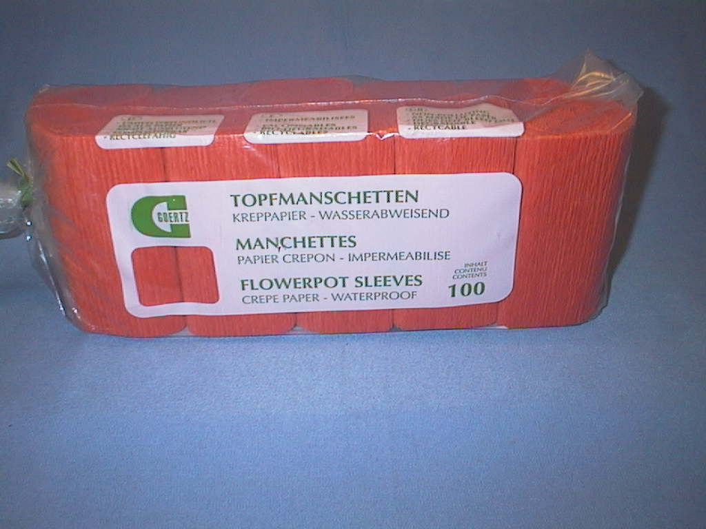 Krepp Topfmanschetten ORANGE 03 145/155 mm