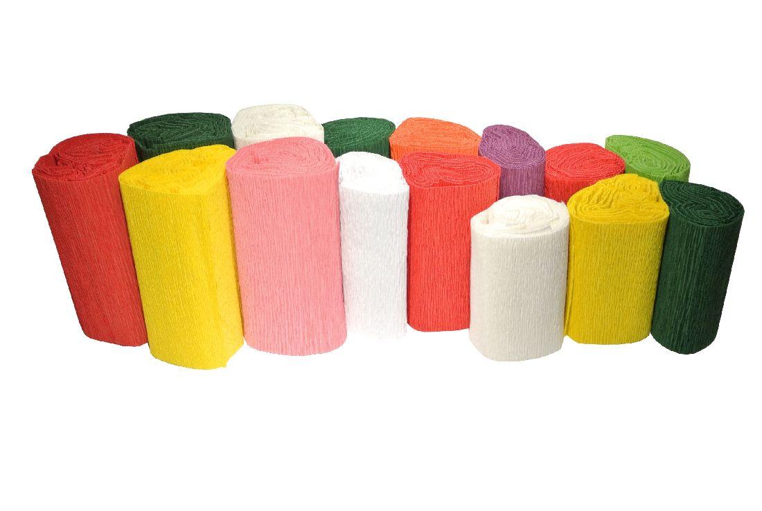 Krepp Topfmanschetten BUNT-div.Farben+Größen Gr.8,10,12, je 50St.