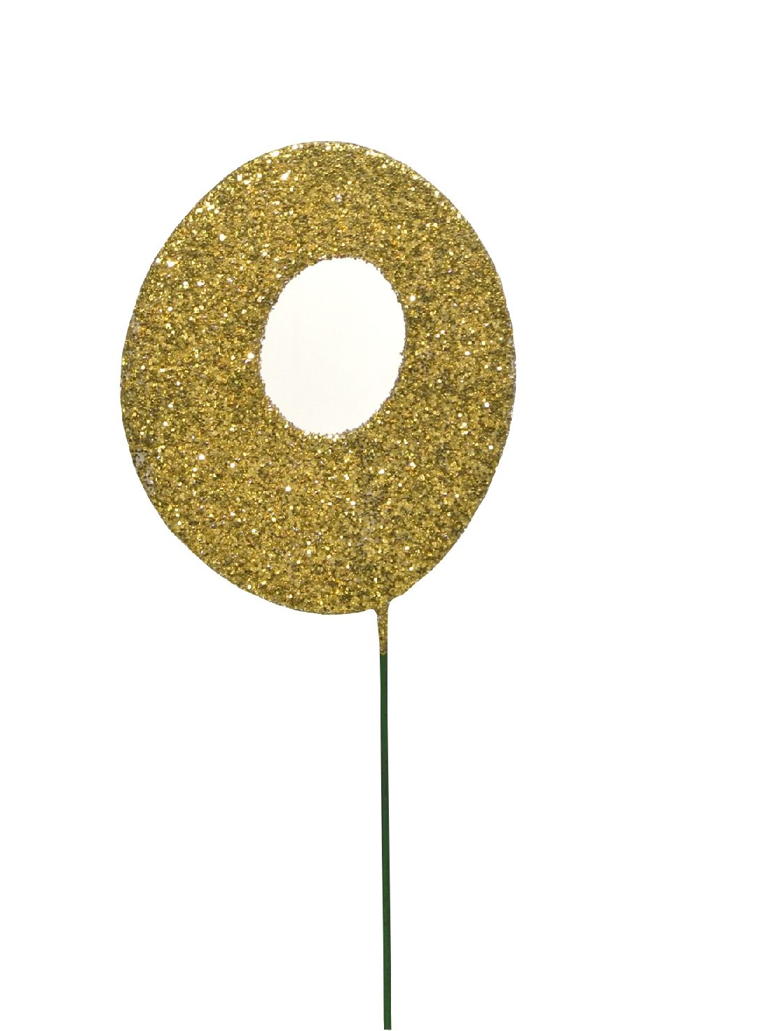 Glimmer-Einzelzahl GOLD 0er