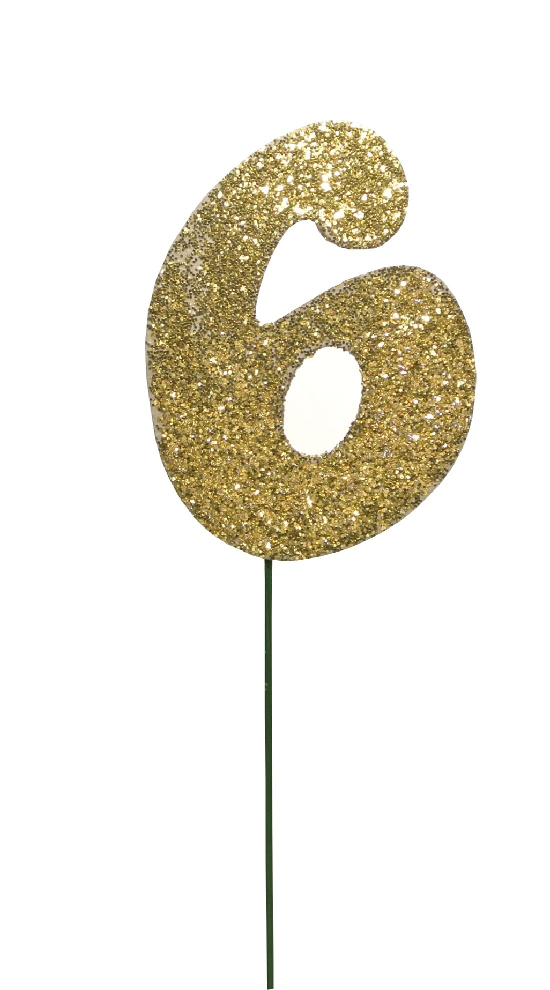 Glimmer-Einzelzahl GOLD 6er