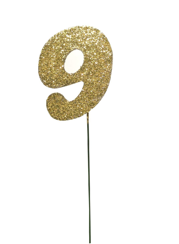 Glimmer-Einzelzahl GOLD 9er