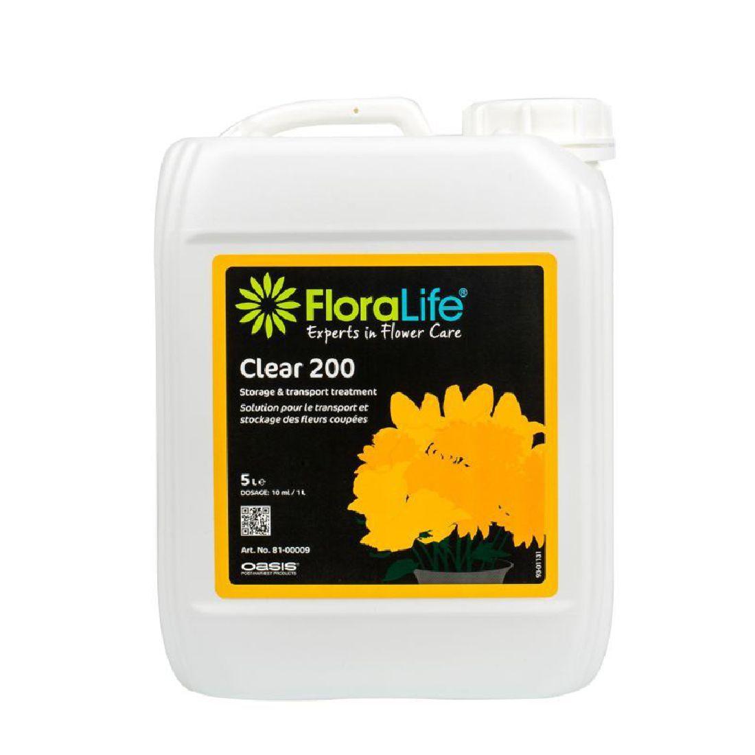 Oasis® Flower Fresh 81-00009 Frischhaltemittel 5 Liter 200 Clear Kanister