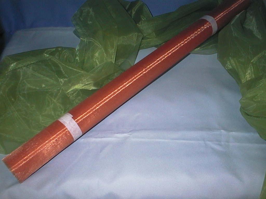 Organza (Tüll fein) 57 KUPFER 70cm
