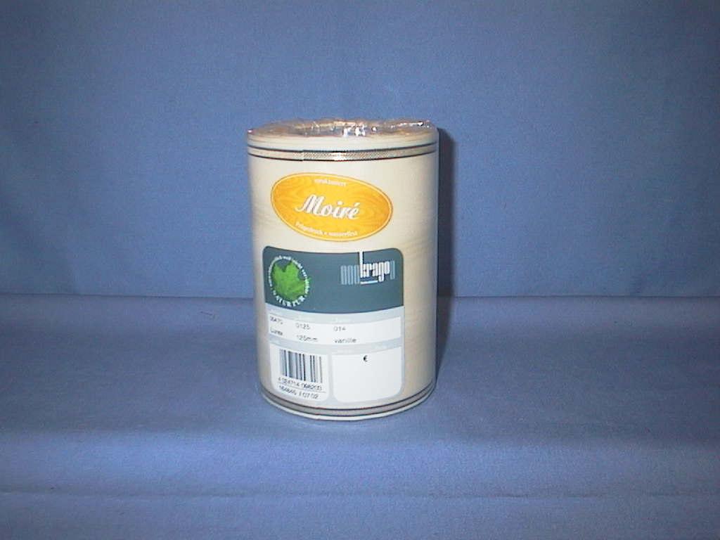 Kranzband Krago vanille 14 125mm 25m Goldkante