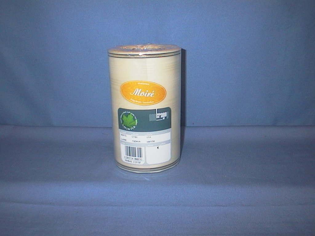 Kranzband Krago vanille 14 150mm 25m Goldkante