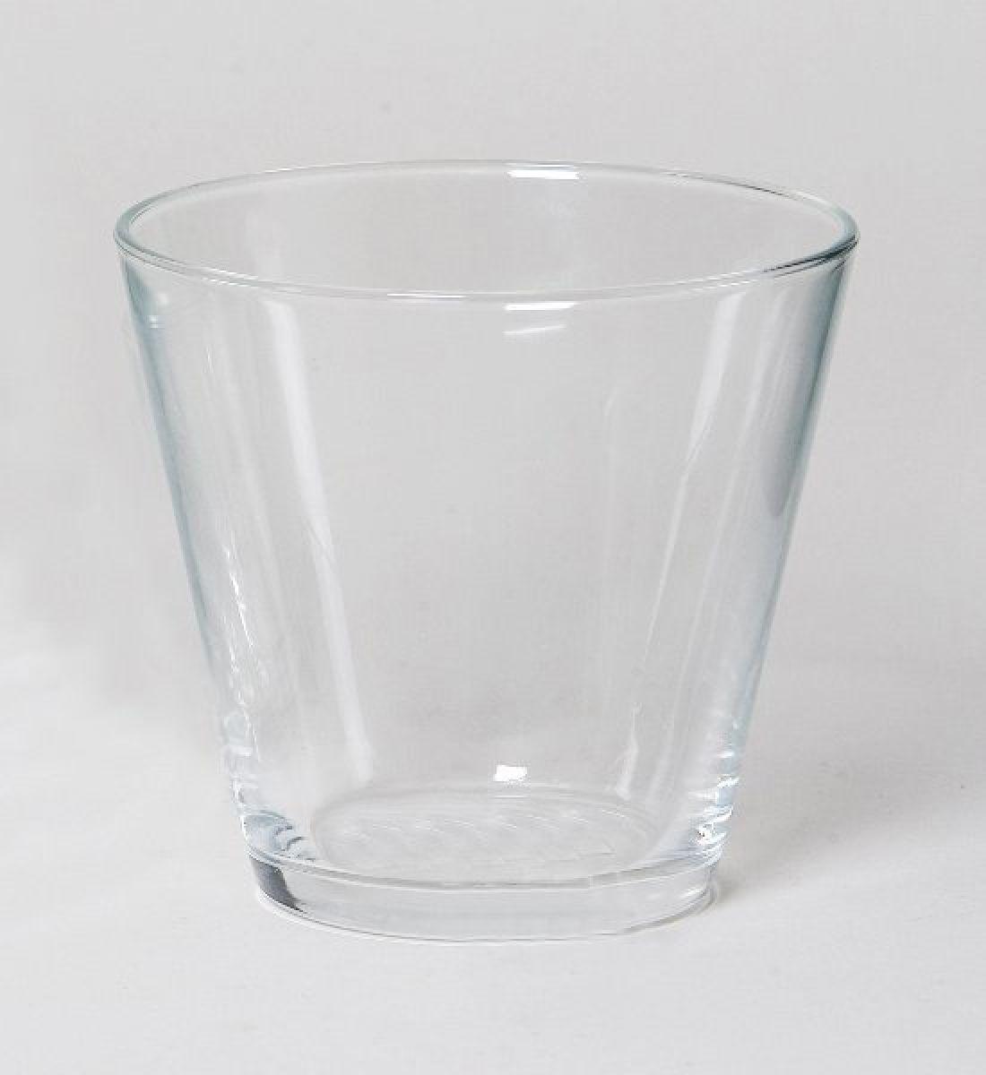 Koni. Glaskübel KLAR 1947-12 71256 Ø12x11cm pressglas