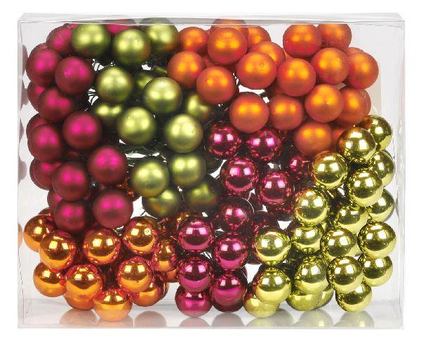 Glaskugeln / Christbaumkugel 1513 FAIRYTALE FOREST MIX 20mm Draht Spiegelbeeren