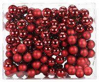 Glaskugeln / Christbaumkugel 12319 CHIANTI/WEINROT 25mm Draht Spiegelbeeren