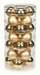 Glaskugeln / Christbaumkugel 12205 BROKAT GOLD GLANZ/MATT 45mm 28Stück